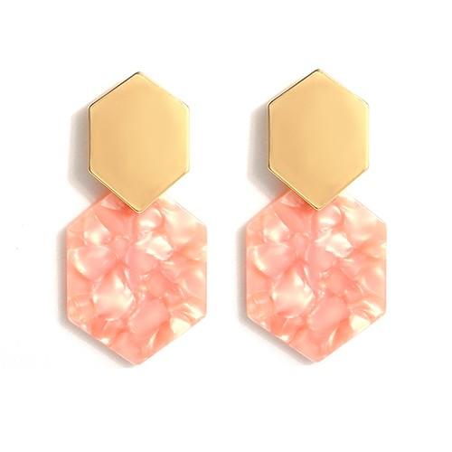 Grace Earrings-Peach