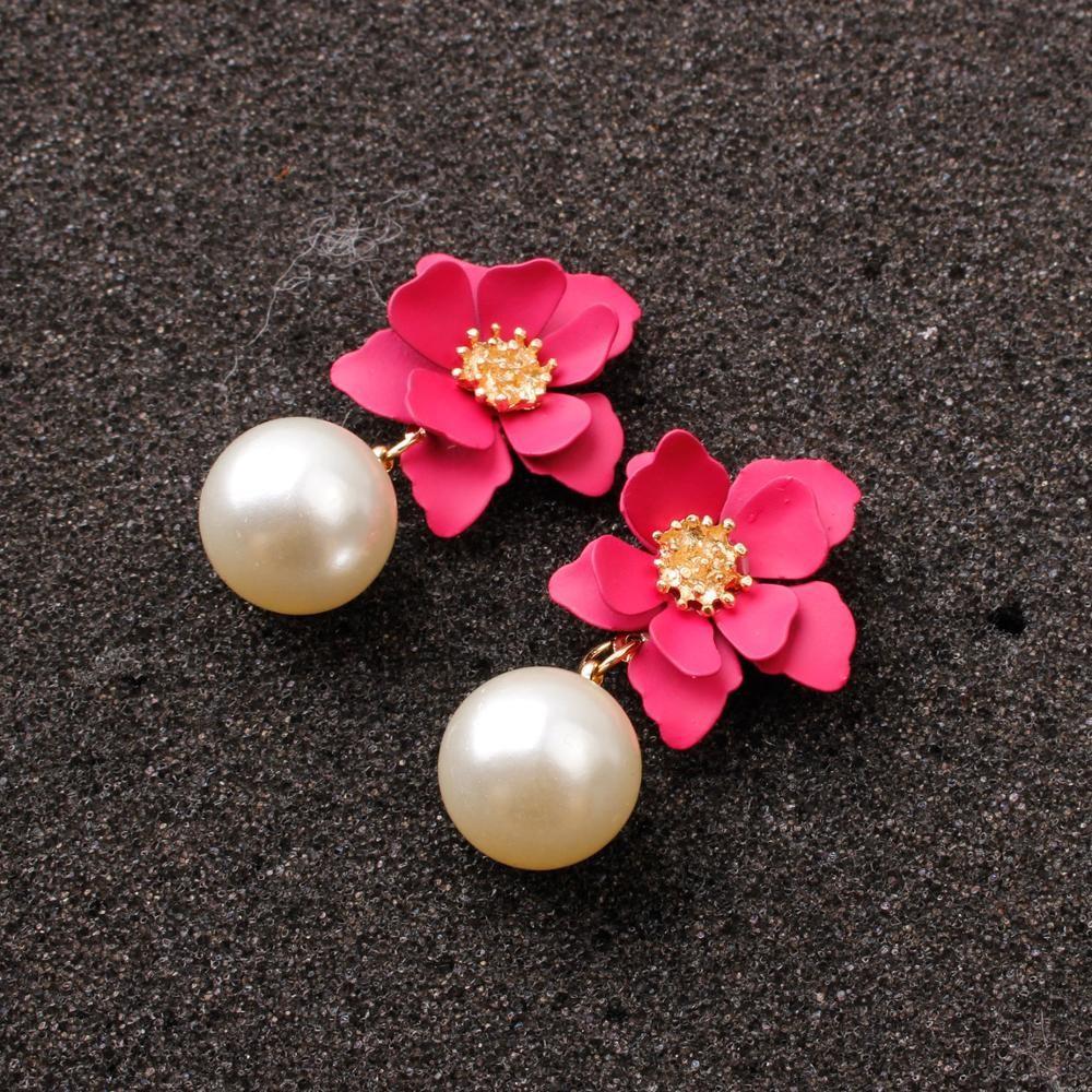 Dana Flower Earring-Pink