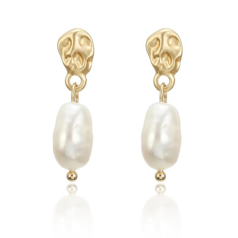 Sandy Pearl Drop Earrings