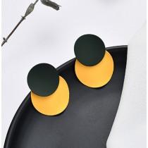 Forest/Yellow Matte Earrings
