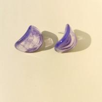 Maria Disc Earrings (Violet)