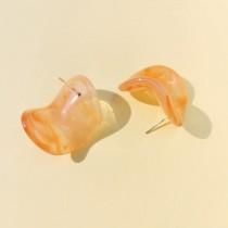 Maria Disc Earrings (Peach)