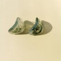 Maria Disc Earrings (Green)