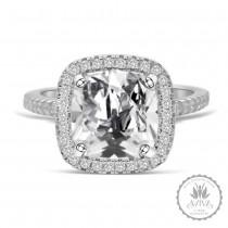 La Senora Silver Engagement Ring