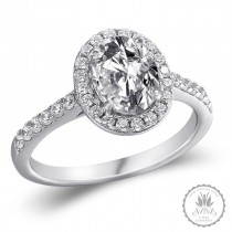 La Donna Silver Engagement Ring
