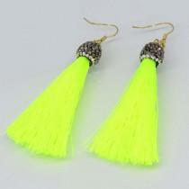 Nova Fringe Earrings: Neon Yellow