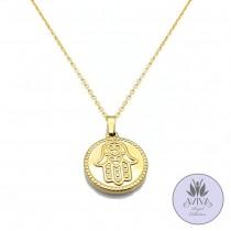 Hamsa Coin Necklace