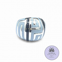 Silver Deco Statement Ring