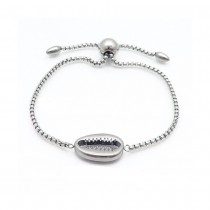Silver Puka Bolo Bracelet