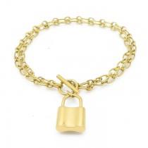 Golden Lock Up Chain Bracelet