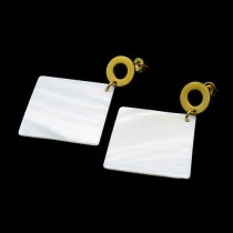 Mother of Pearl Square Earring