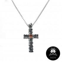 Men's Stem Cross Necklace