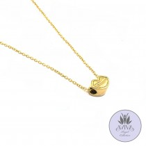 Kissy-Kiss Necklace Gold