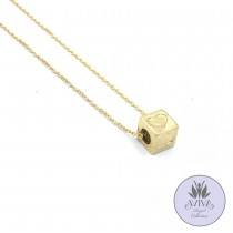 Lucky Dice Necklace Gold