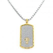 Men's Crystal Tag Necklace