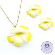 Tropical Flower Necklace Set