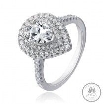 La Madame Silver Engagement Ring