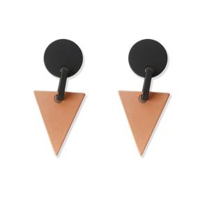 Gina Geo Earrings (Black/Orange)